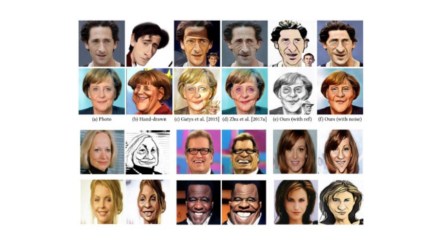 AI Program Learns to Draw Caricatures