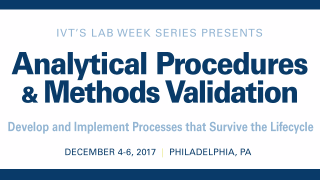 Analytical Procedures & Methods Validation