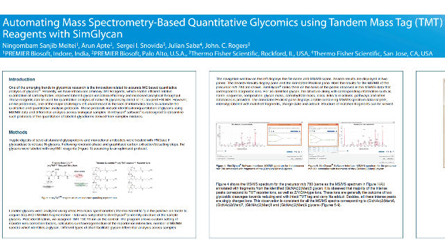 Automating Mass Spectrometry-Based Quantitative Glycomics using Tandem Mass Tag (TMT) Reagents with SimGlycan