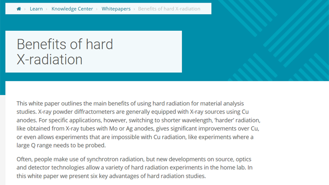 Benefits of Hard X-Radiation