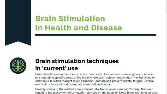 Brain Stimulation in Health and Disease