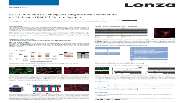 Cell Culture and Cell Analysis using the Real Architecture for 3D Tissue (RAFT™) Culture System