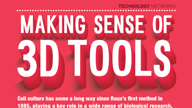 Cell Culture: Making Sense of 3D Tools