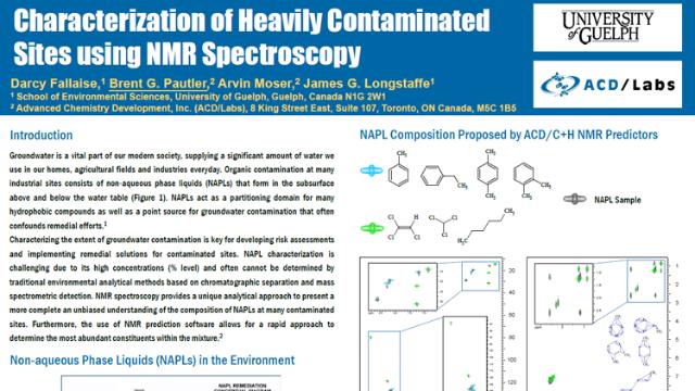 Characterization of Heavily Contaminated Sites using NMR Spectroscopy