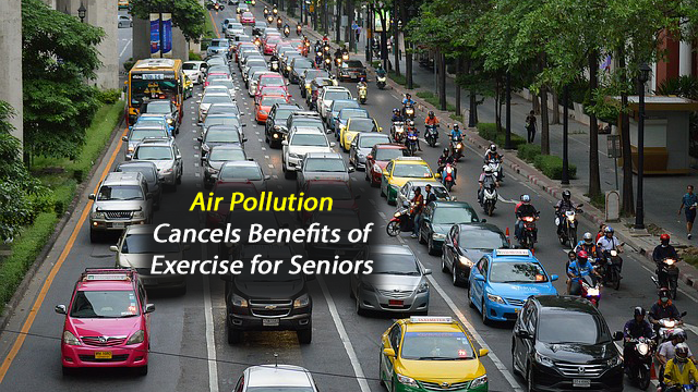 City Air Pollution Cancels Positive Health Effects of Exercise in Over 60's