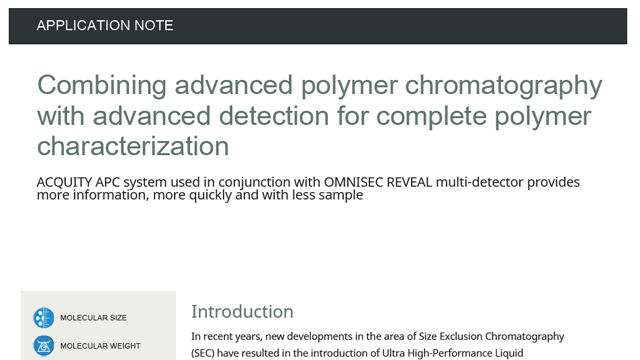 Combining Advanced Polymer Chromatography with Advanced Detection for Complete Polymer Characterization