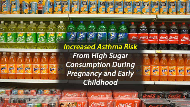 Consuming Sugary Drinks During Pregnancy May Increase Asthma Risk in Mid-Childhood