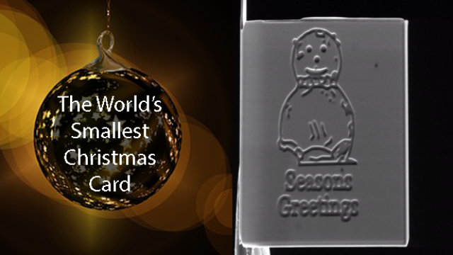 Could this be the World's Smallest Christmas Card?