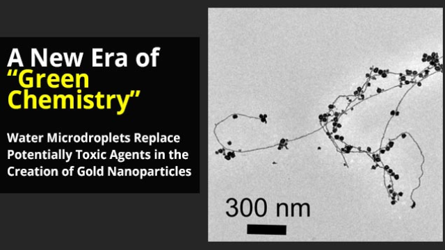 "Creating Gold Nanoparticles in Water, a New Era of ""Green Chemistry""?"