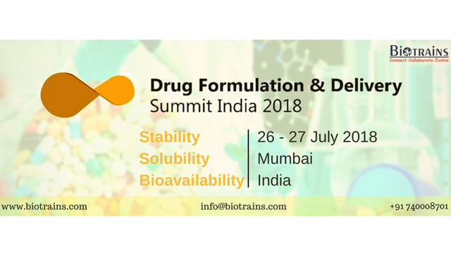 Drug Formulation & Delivery Summit India 2018