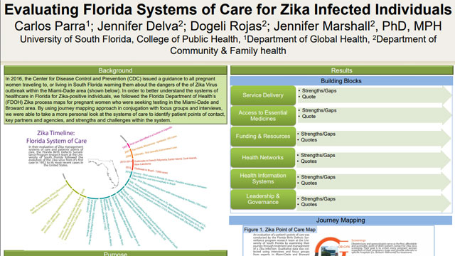 Evaluating Florida Systems of Care for Zika Infected Individuals