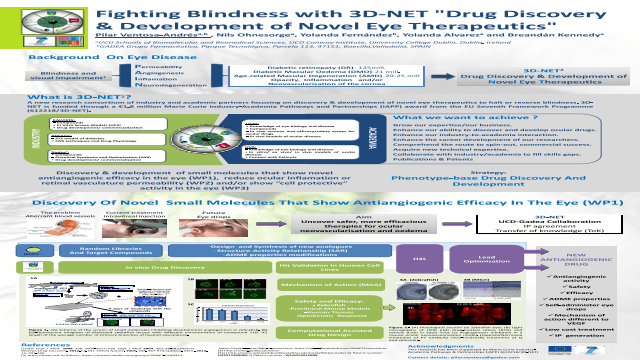 "Fighting Blindness with 3D-NET ""Drug Discovery & Development of Novel Eye Therapeutics"""