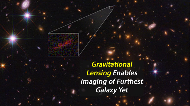 Gravitational Lensing Identifies Farthest Galaxy Yet