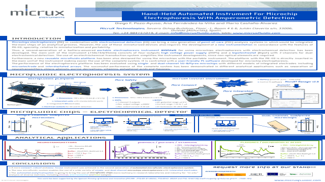 Hand-held Automated Instrument for Microchip Electrophoresis with Amperometric Detection