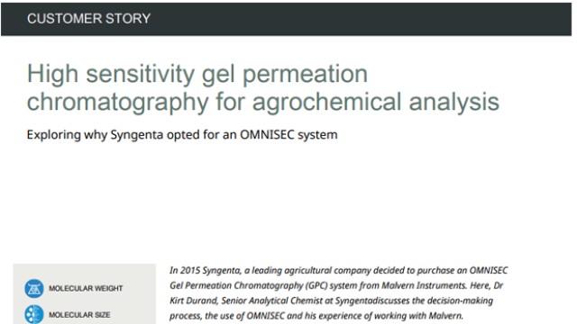 High Sensitivity Gel Permeation Chromatography for Agrochemical Analysis