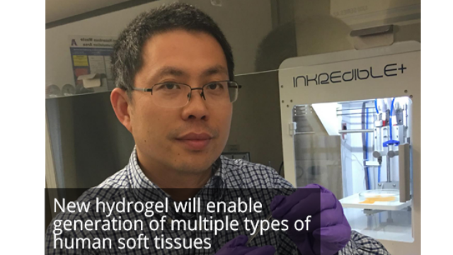 Highly Elastic Biodegradable Hydrogel Offers Advantages for Bio-printing