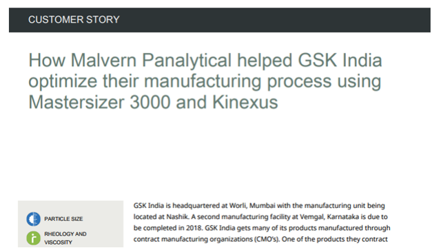 How Malvern Panalytical Helped GSK India Optimize their Manufacturing Process