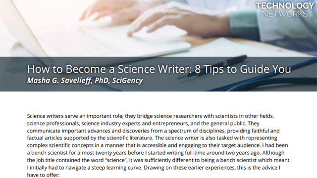 How to Become a Science Writer: 8 Tips to Guide You