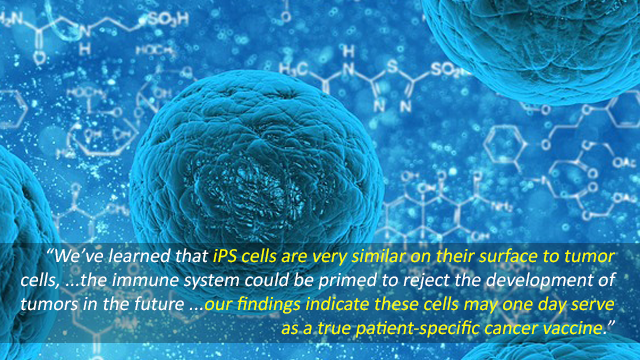 Induced Pluripotent Stem Cells Could Serve as Cancer Vaccine