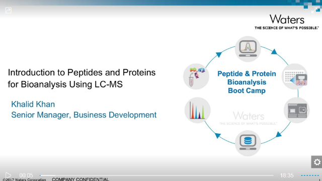 Introduction to Peptides and Proteins for Bioanalysis Using LC-MS