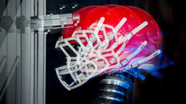 Football helmet tests may not account for concussion-prone actions