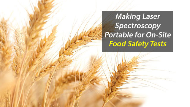 Making Laser Spectroscopy Portable for On-Site Food Safety Tests