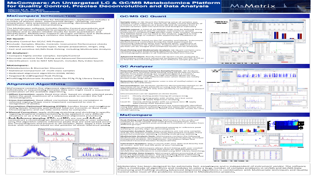 MsCompare: An Untargeted LC & GC/MS Metabolomics Platform for Quality Control, Precise Deconvolution and Data Analysis