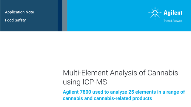 Multi-Element Analysis of Cannabis using ICP-MS