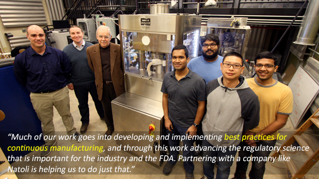 Natoli Engineering Donates Equipment to Strengthen Purdue University's Continuous Manufacturing Research