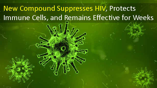 New Compound Suppresses HIV, Protects Immune Cells, and Remains Effective for Weeks