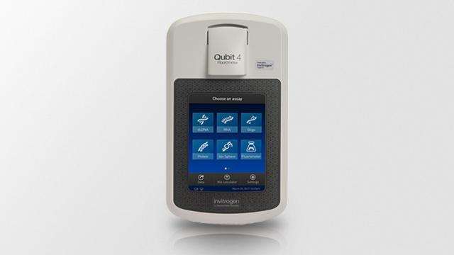 New Qubit 4–sensitive quantification of DNA or RNA