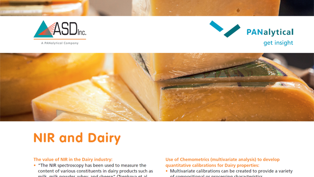 NIR and Dairy Spectroscopy