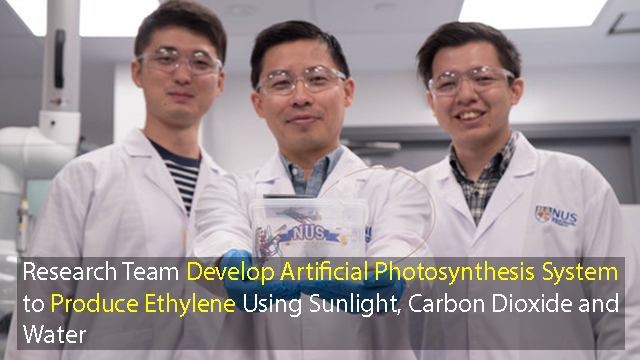 Novel Artificial Photosynthesis Device for Greener Ethylene Production