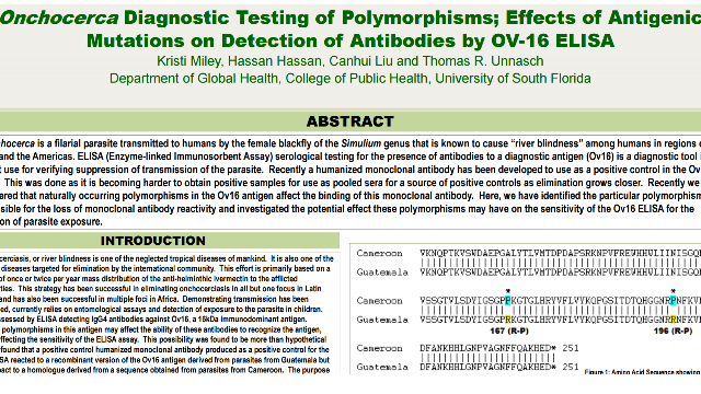 Onchocerca Diagnostic Testing of Polymorphisms; Effects of Antigenic Mutations on Detection of Antibodies by OV-16 ELISA