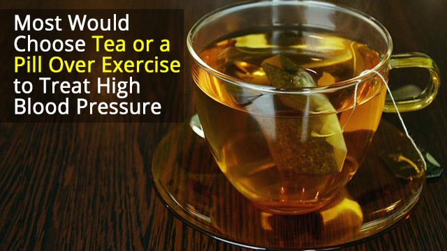 People Would Rather Pop A Pill or Sip Tea Than Exercise to Treat High Blood Pressure