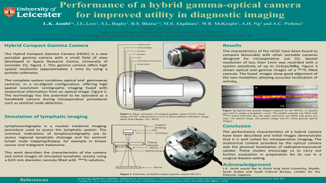 Performance of a hybrid gamma-optical camera for improved utility in diagnostic imaging
