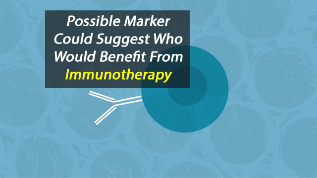 Possible Biomarker to Identify Who Would Benefit from Immunotherapy