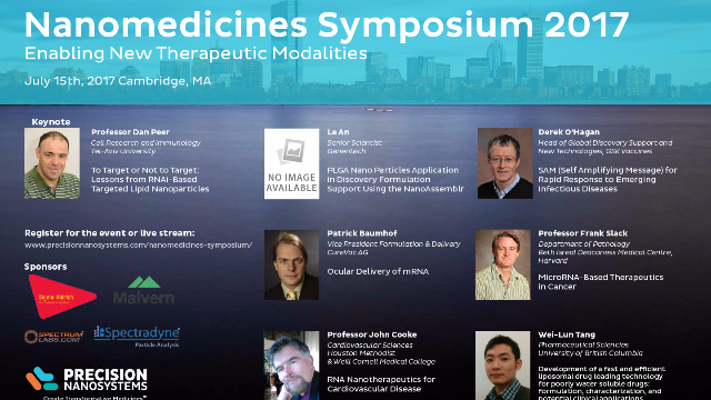Precision NanoSystems to Host Nanomedicines Symposium