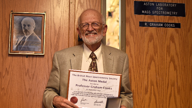 Purdue Professor Receives Medal for Contributions to Mass Spectrometry
