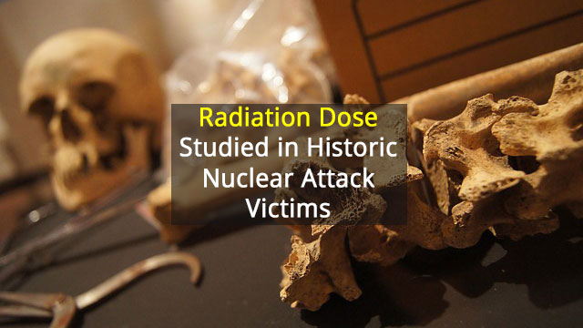 Radiation Dose Calculated in Bone from Victims of Hiroshima Bombing