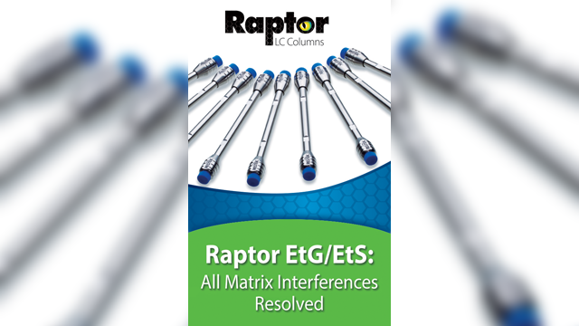 Restek Launches New Raptor EtG/EtS Column to Resolve Matrix Interferences