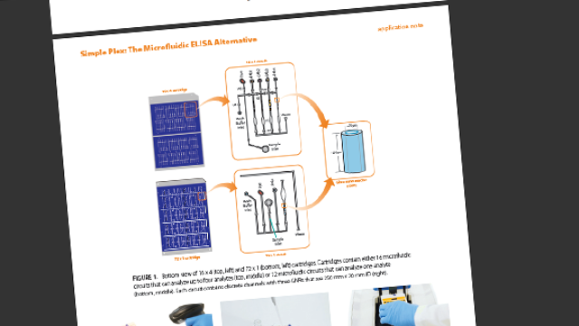 Simple Plex: The Hands-Free, Low-Volume, Microfluidic ELISA Alternative [Application Note]