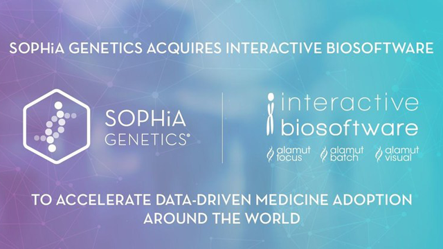 SOPHiA GENETICS Acquires Interactive Biosoftware to Drive Growth