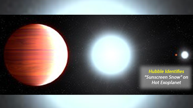 Spectroscopic Observations by Hubble reveal Sunscreen Snow on Hot Exoplanet