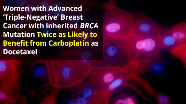 Targeting Chemotherapy with Genetic Testing Offers Effective Treatment for Female Patients with Aggressive Breast Cancer