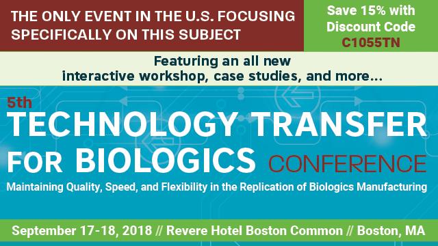 Technology Transfer for Biologics