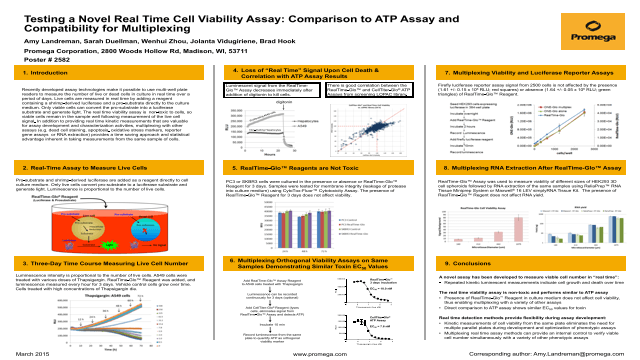 Testing a Novel Real Time Cell Viability Assay