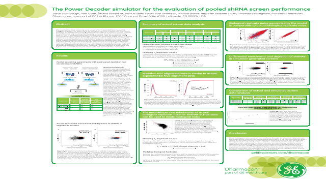 The Power Decoder Simulator for the Evaluation of Pooled shRNA Screen Performance