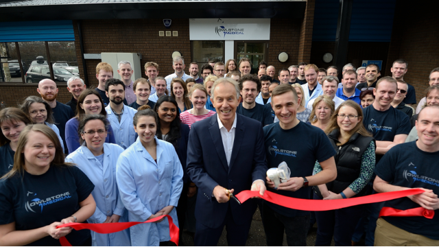 Tony Blair Opens New High Volume Breath Biopsy Lab for Owlstone Medical