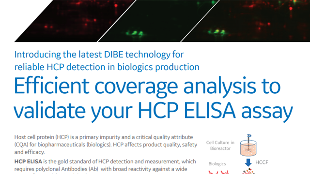 Validate your HCP ELISA Assay